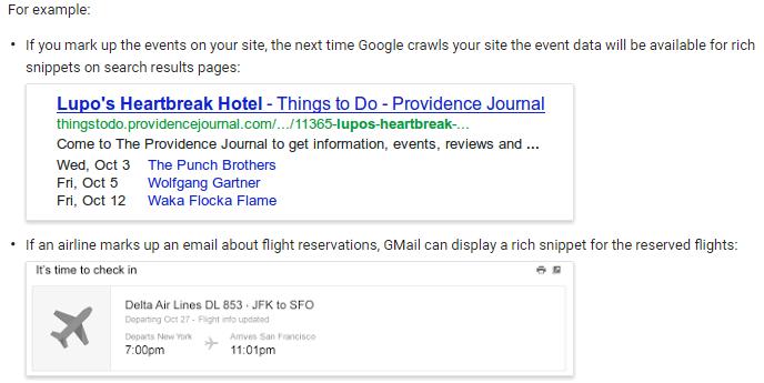 Google Schema Markup Example