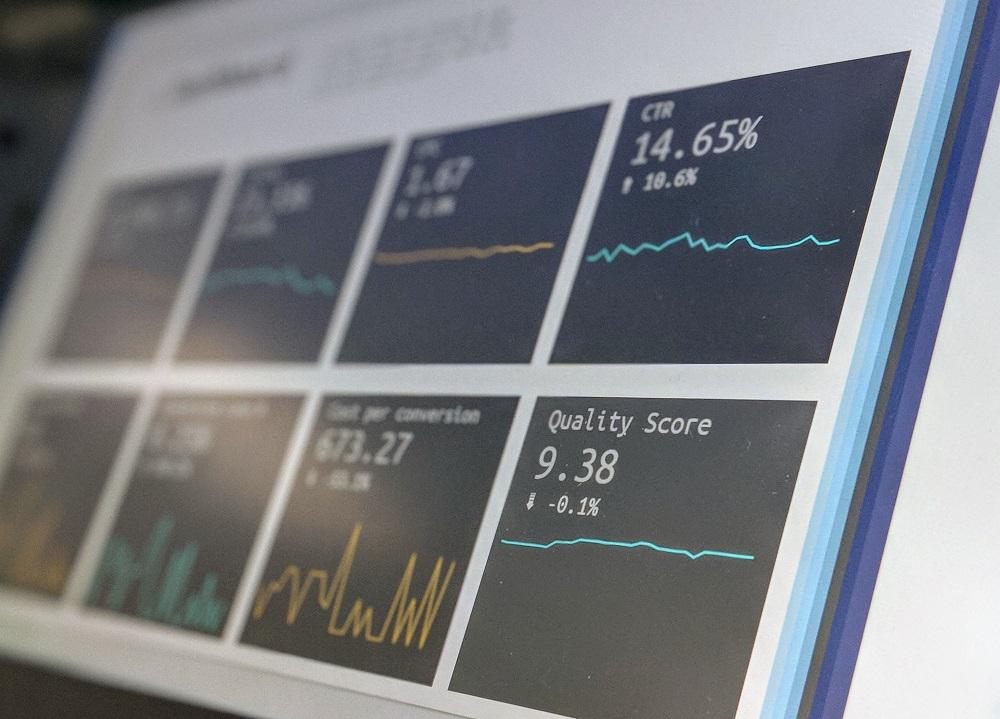 Analytics data on a computer