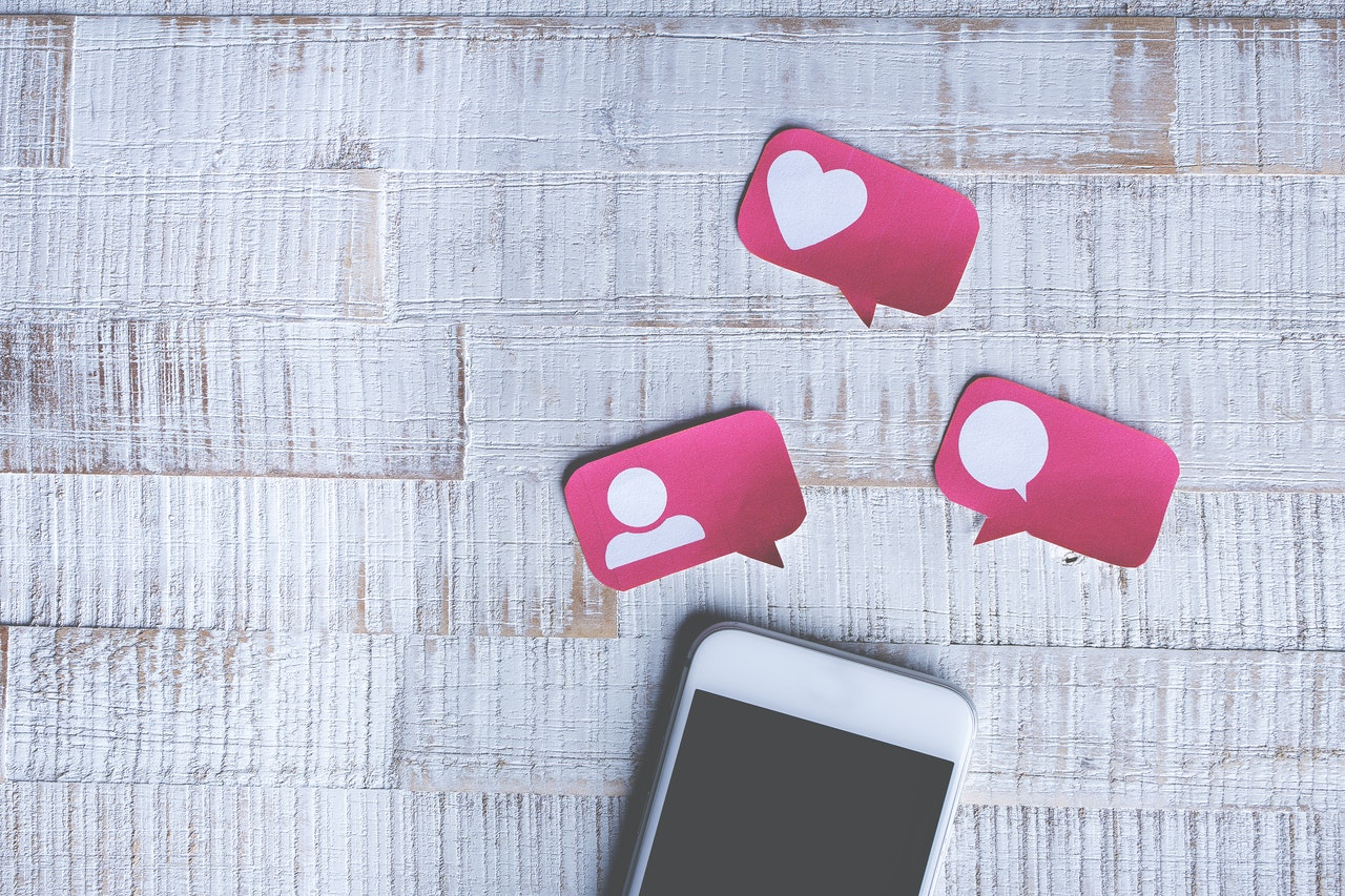 social media likes, comments, and followers