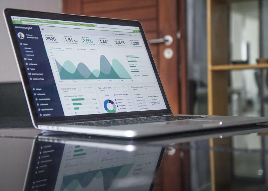 Laptop Google Analytics