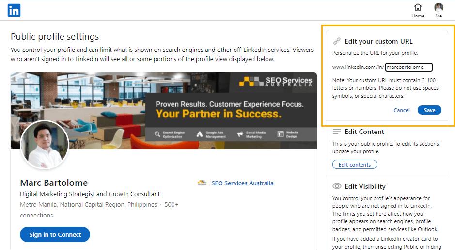 LinkedIn Marketing Step 1D
