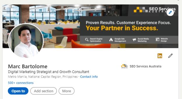 LinkedIn Marketing Step 2A